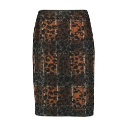 Gerry Weber Animal Print Design Skirt Black