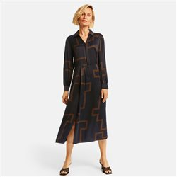 Gerry Weber Shirt Dress With Graphic Pattern Black