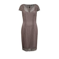 Vera Mont Lace Dress Chocolate