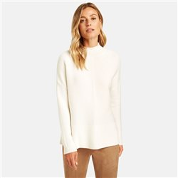 Gerry Weber Ribbed Effect Turtleneck Jumper Cream