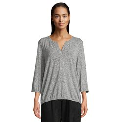 Betty & Co Bubble Hem Printed Top Silver