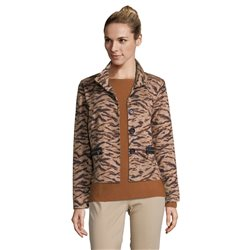 Betty Barclay Animal Print Button Jacket Camel