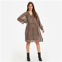 Part Two Abira Printed Dress Brown