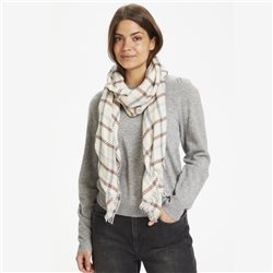 Part Two Estha Check Print Scarf Beige