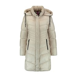 Gerry Weber Quilted Coat With Hood and Tie Beige