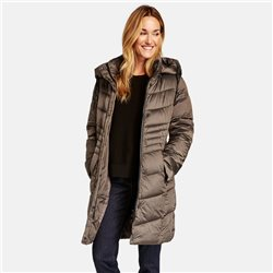 Gerry Weber Quilted Coat With Hood Taupe