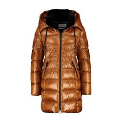 Gerry Weber Quilted Jacket With A Gloss Finish Cognac