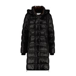 Gerry Weber Quilted Coat With A Gloss Finish Black