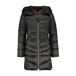 Gerry Weber Hooded Coat With Faux Fur Trim Black