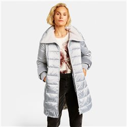 Gerry Weber Shimmering Quilted Coat Silver