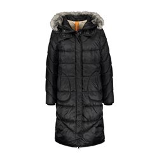 Mid Length Hooded Coat Black