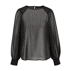 Taifun Spot Design Blouse Black