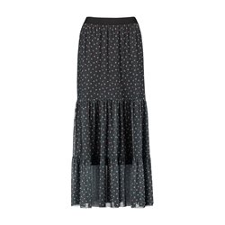 Taifun Dot Design Pleated Skirt Black