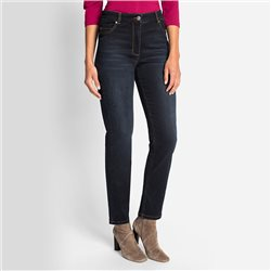 Olsen Mona Slim Jeans With Embellished Back Pockets Denim Blue