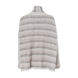 Olsen Knitted Jumper With Textured Stripes Beige
