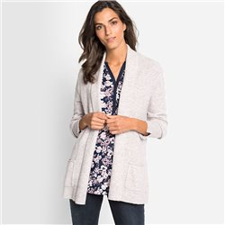 Olsen Cardigan With Shawl Collar Beige