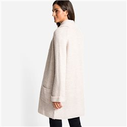 Olsen Cardigan With Large Collar Beige