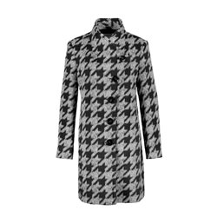 Houndstooth Coat Black