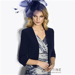 Cabotine Layered Dress With Navy Jacket