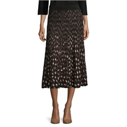 Betty Barclay Knitted Animal Print Skirt Black