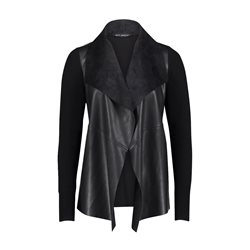 Betty Barclay Leather Look Cardigan Black