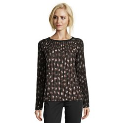 Betty Barclay Leo Print Jumper Black