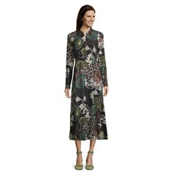 Betty Barclay Mid Length Paisley Print Dress Black