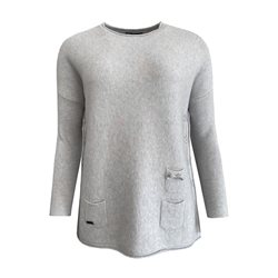 Picadilly Jumper With Side Buttons Grey