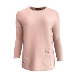 Picadilly Jumper With Side Buttons Coral