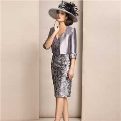 Zeila Grey Sequin Dress And Jacket