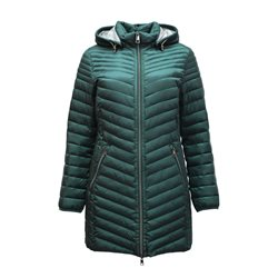 Lebek Lightweight Coat With Hood Green
