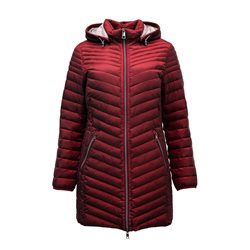 Lebek Lightweight Coat With Hood Red