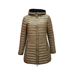 Longline Coat With Hood Caramel