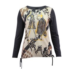 Lebek Top With Printed Front Grey