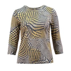 Lebek All Over Graphic Print Top Grey