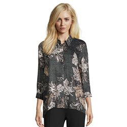 Betty Barclay Leaf Print Shirt Black