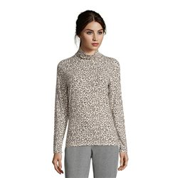 Betty Barclay Animal Print Crew Neck Top Grey