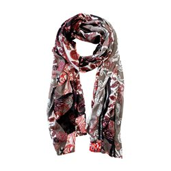 Lebek Leaf And Paisley Print Scarf Red