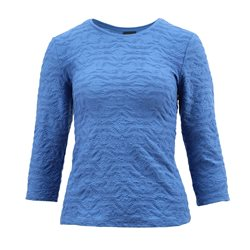 Lebek Textured Top Blue