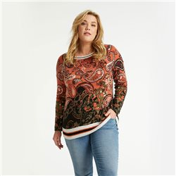 Samoon Paisley Pattern Jumper Orange