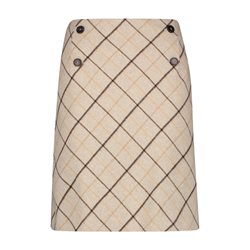 Gerry Weber Skirt With A Diagonal Check Taupe