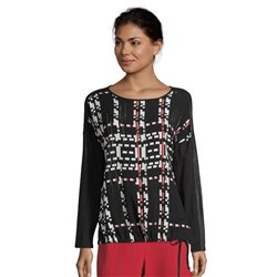 Betty Barclay Top With Front Print Black