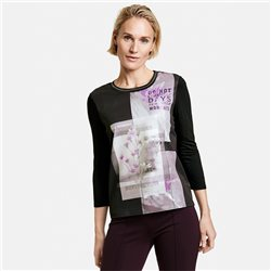 Gerry Weber Photo Print Top Black