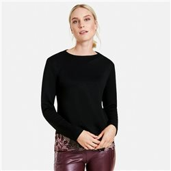 Taifun Layered Look Top Black