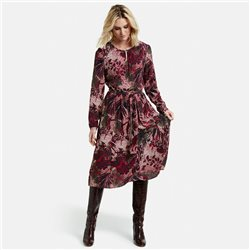 Taifun Floral Midi Dress Red