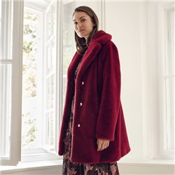 Taifun Soft Faux Fur Coat Red
