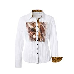 Just White Photo Print Shirt Cognac