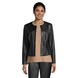 Betty Barclay Leather Look Jacket Black