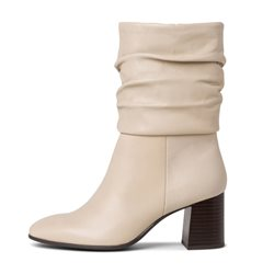 Tamaris Osuna Leather Boot Ivory