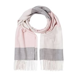 Olsen Block Stripe Scarf Blush